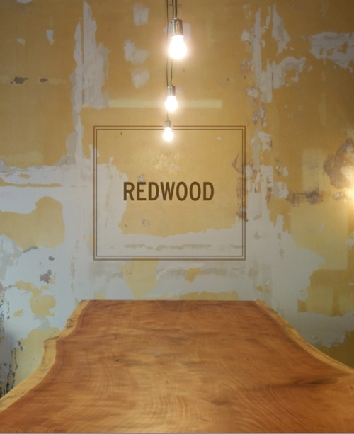Image shows the redood bar in the redwood bar.